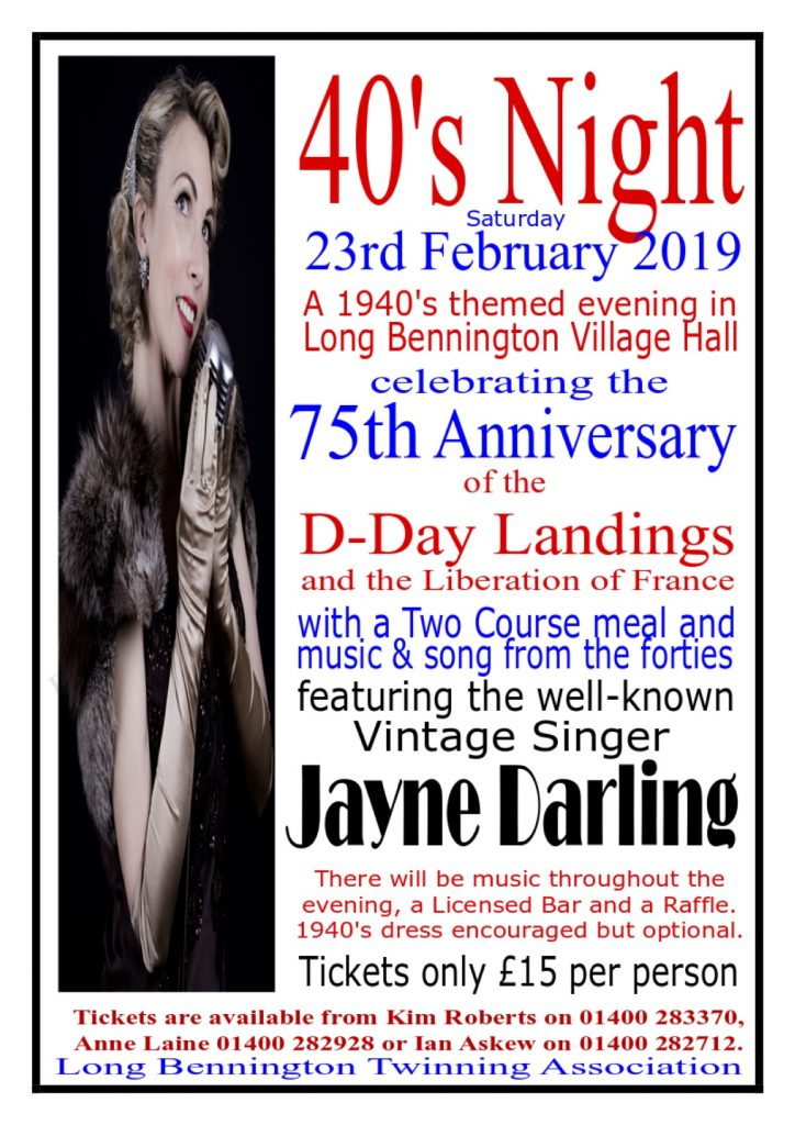 Long Bennington 1940s Night February 23rd 2019