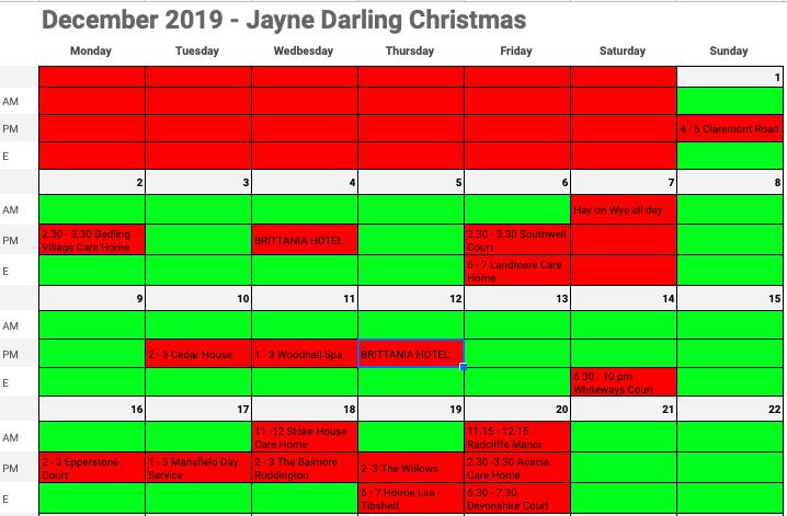 Jayne Darling Christmas Dates