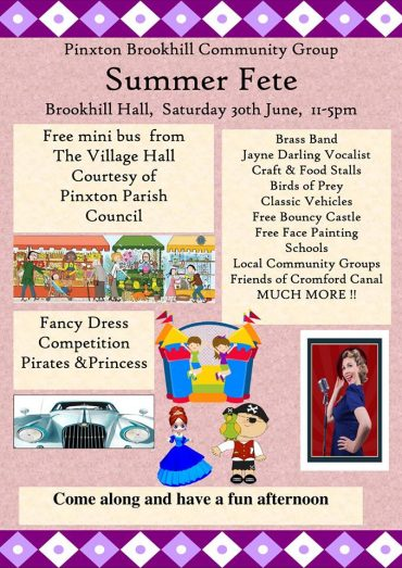 Pinxton Brookhill Community Summer Fete